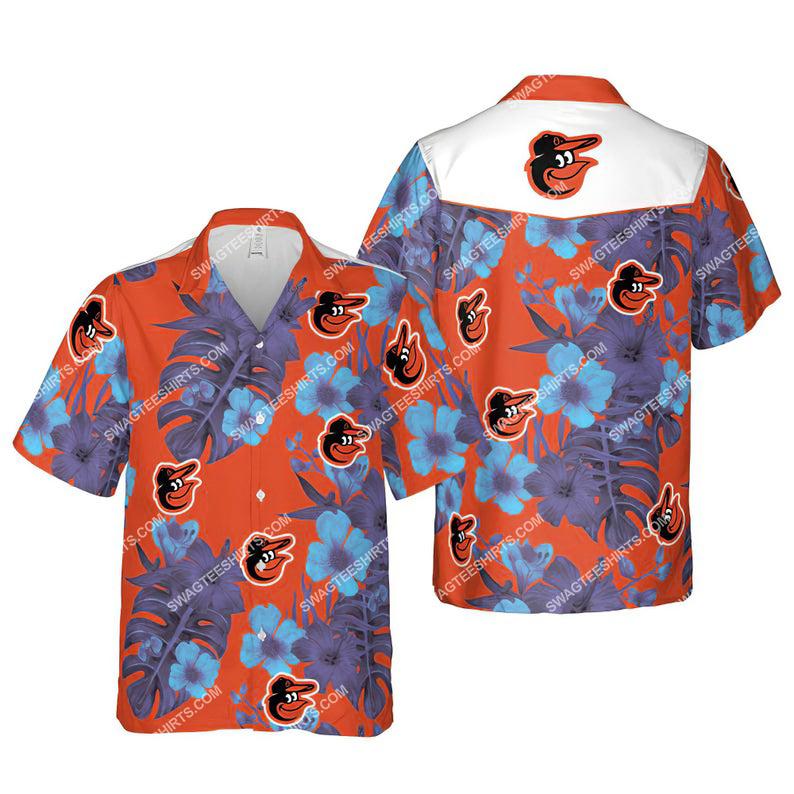 Floral baltimore orioles mlb hawaiian shirt 1