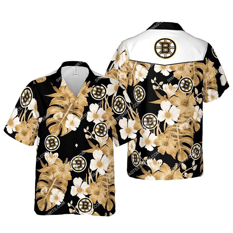 Floral boston bruins nhl summer vacation hawaiian shirt 1 - Copy