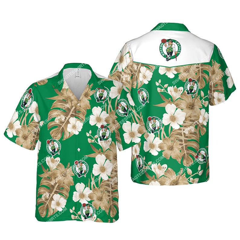 Floral boston celtics nba summer vacation hawaiian shirt 1 - Copy