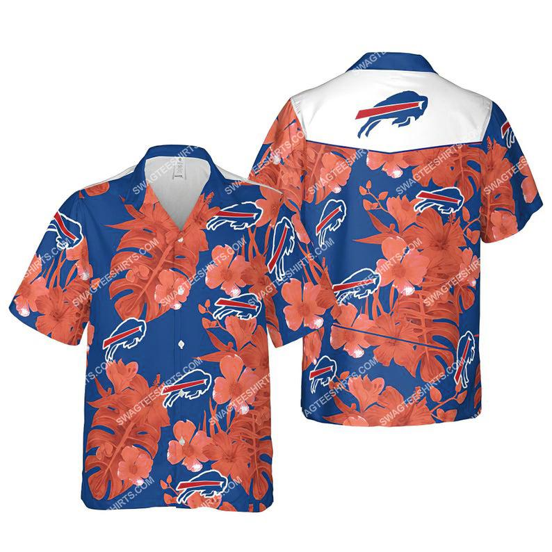 Floral buffalo bills nfl summer vacation hawaiian shirt 1