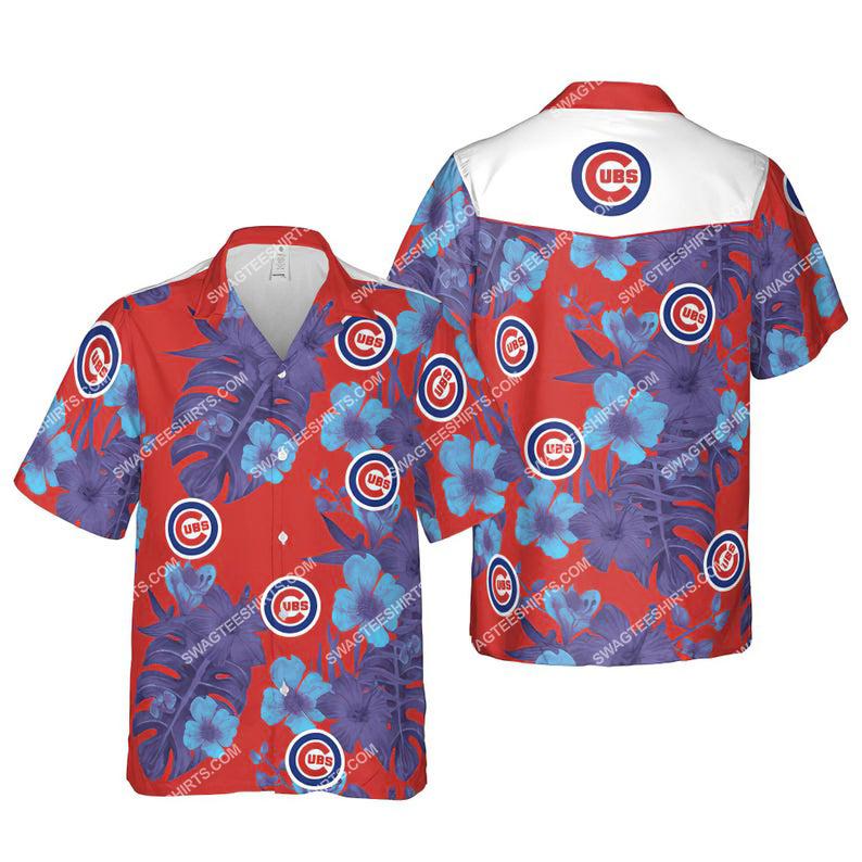 Floral chicago cubs mlb summer vacation hawaiian shirt 1