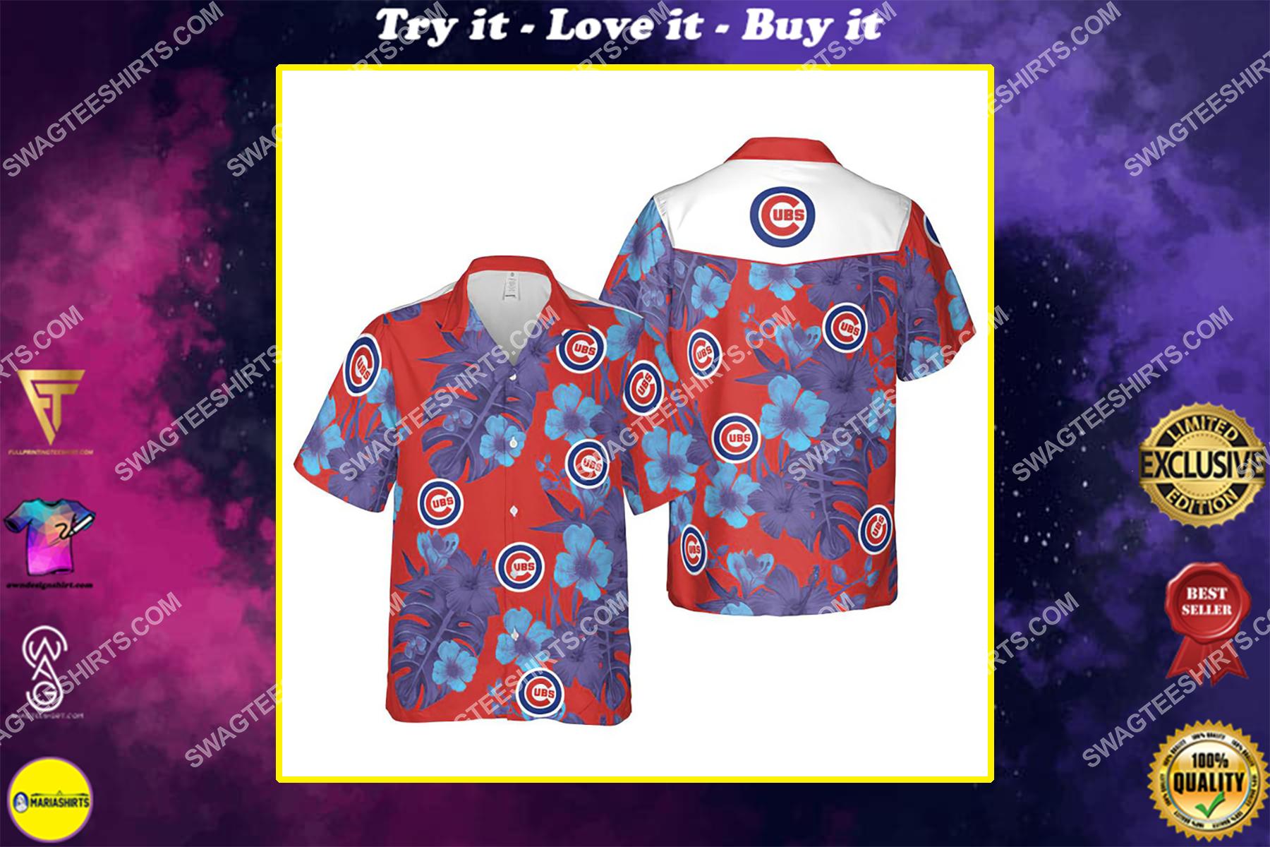 Floral chicago cubs mlb summer vacation hawaiian shirt