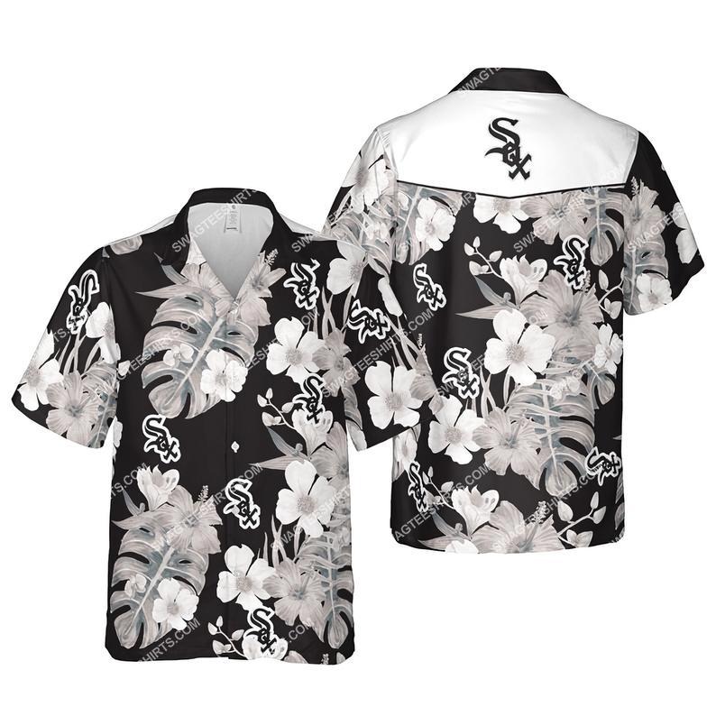 Floral chicago white sox mlb summer vacation hawaiian shirt 1
