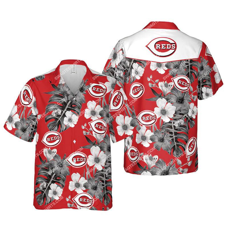 Floral cincinnati reds mlb summer vacation hawaiian shirt 1 - Copy (3)