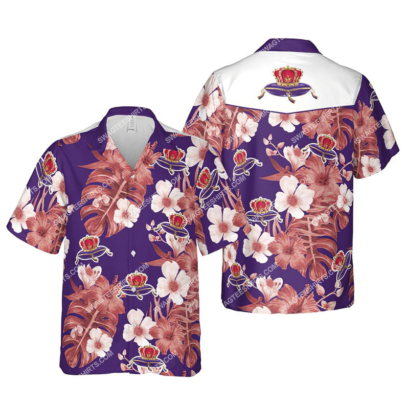 Floral crown royal canadian whisky summer vacation hawaiian shirt 1 - Copy