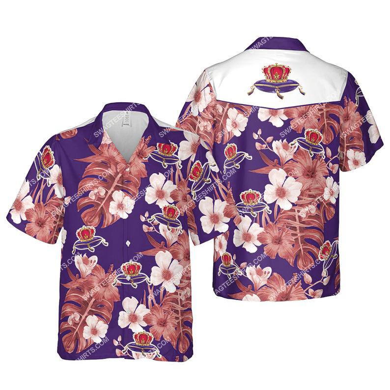 Floral crown royal canadian whisky summer vacation hawaiian shirt 1