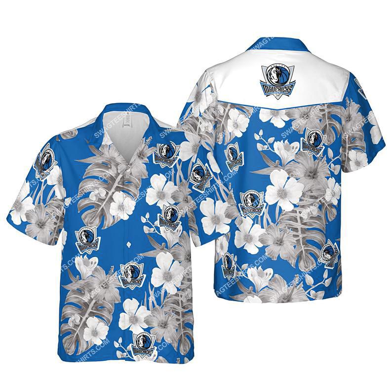 Floral dallas mavericks nba summer vacation hawaiian shirt 1