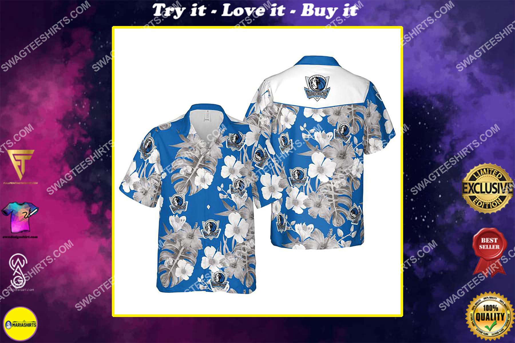 Floral dallas mavericks nba summer vacation hawaiian shirt