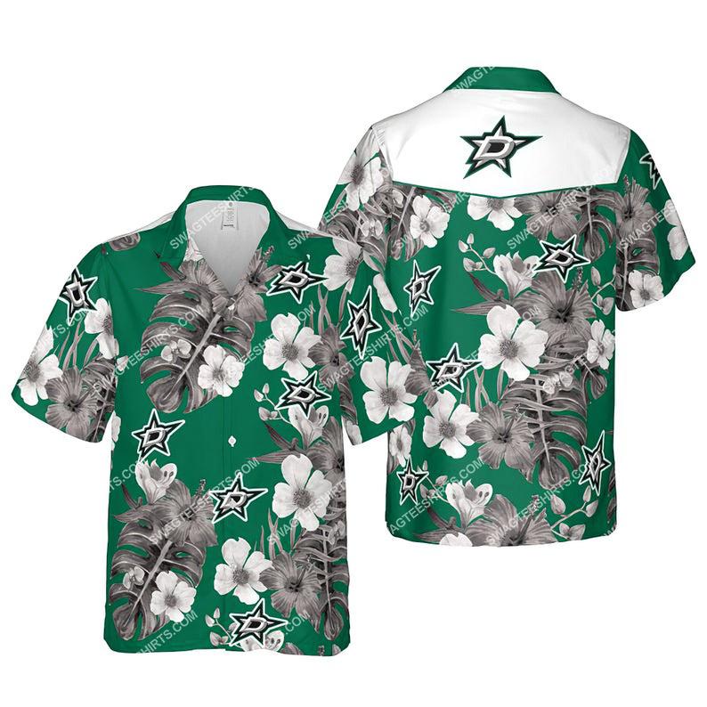 Floral dallas stars nhl summer vacation hawaiian shirt 1