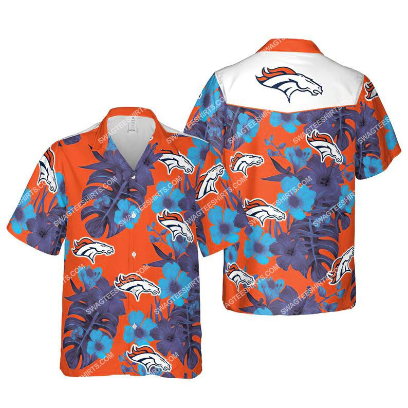 Floral denver broncos nfl summer vacation hawaiian shirt 1