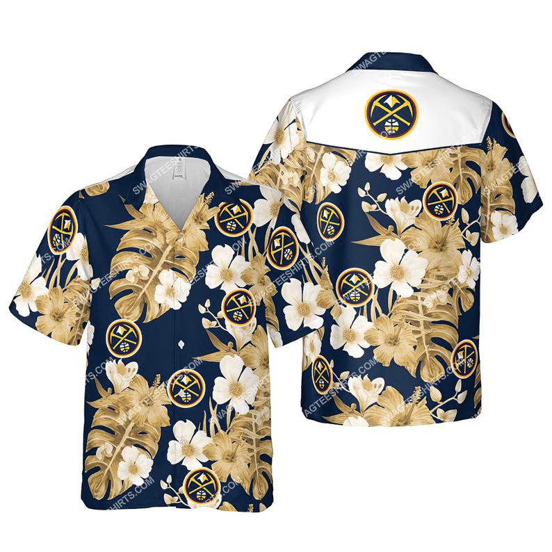 Floral denver nuggets nba summer vacation hawaiian shirt 1