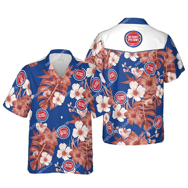 Floral detroit pistons nba summer vacation hawaiian shirt 1 - Copy (2)