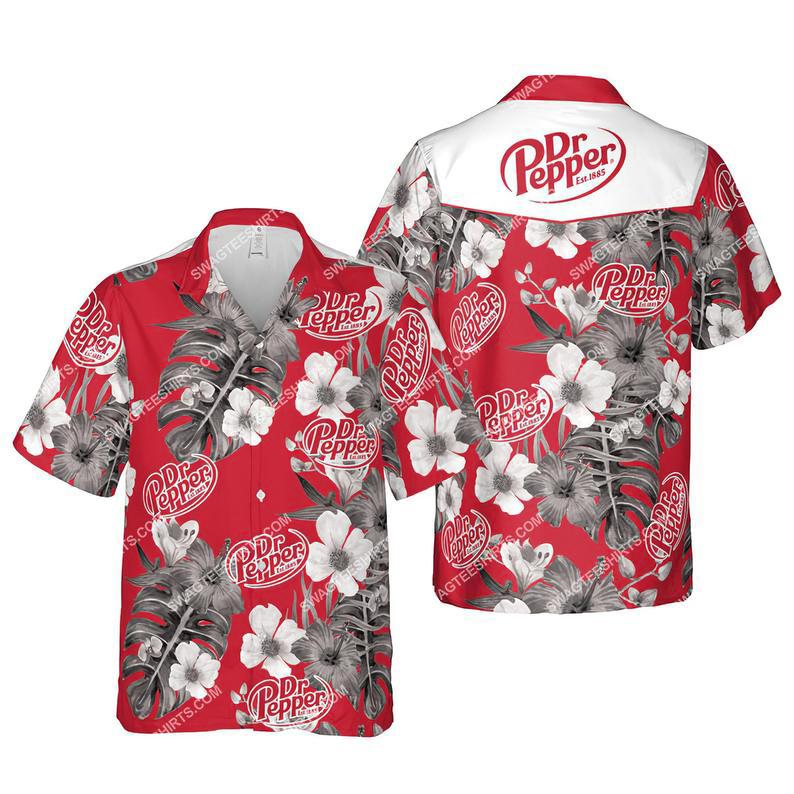 Floral dr pepper summer vacation hawaiian shirt 1