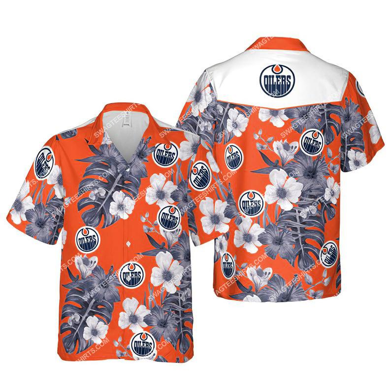 Floral edmonton oilers nhl summer vacation hawaiian shirt 1 - Copy