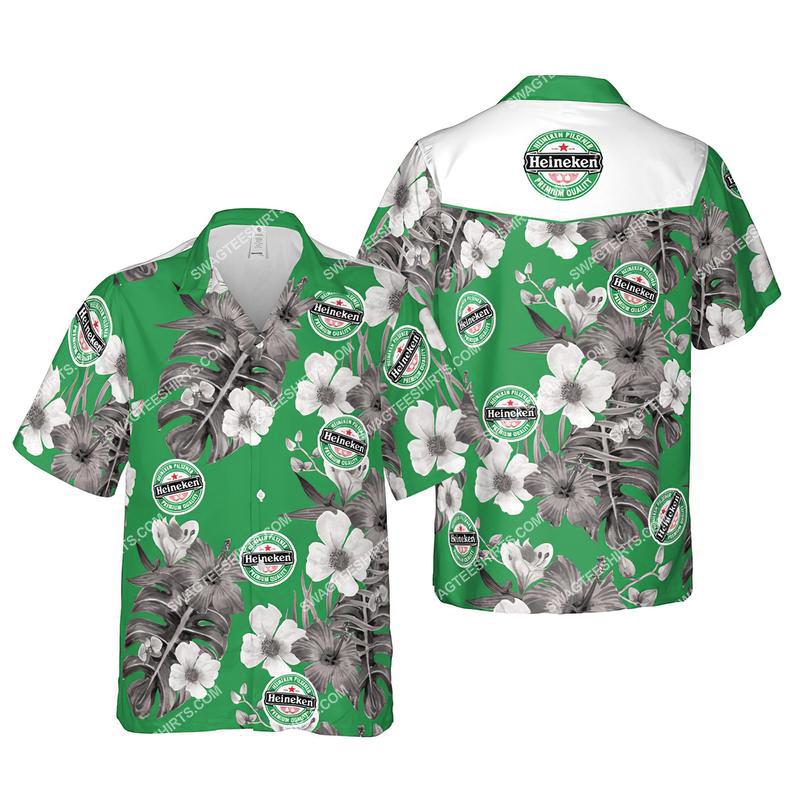 Floral heiniken beer summer vacation hawaiian shirt 1 - Copy