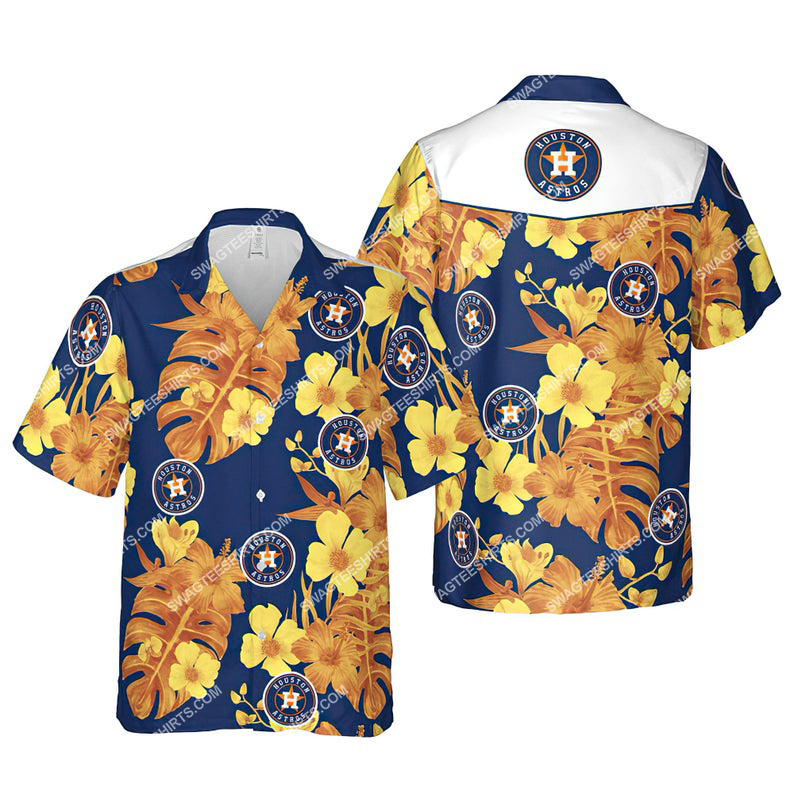 Floral houston astros mlb summer vacation hawaiian shirt 1