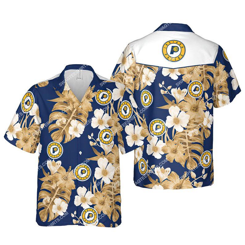 Floral indiana pacers nba summer vacation hawaiian shirt 1