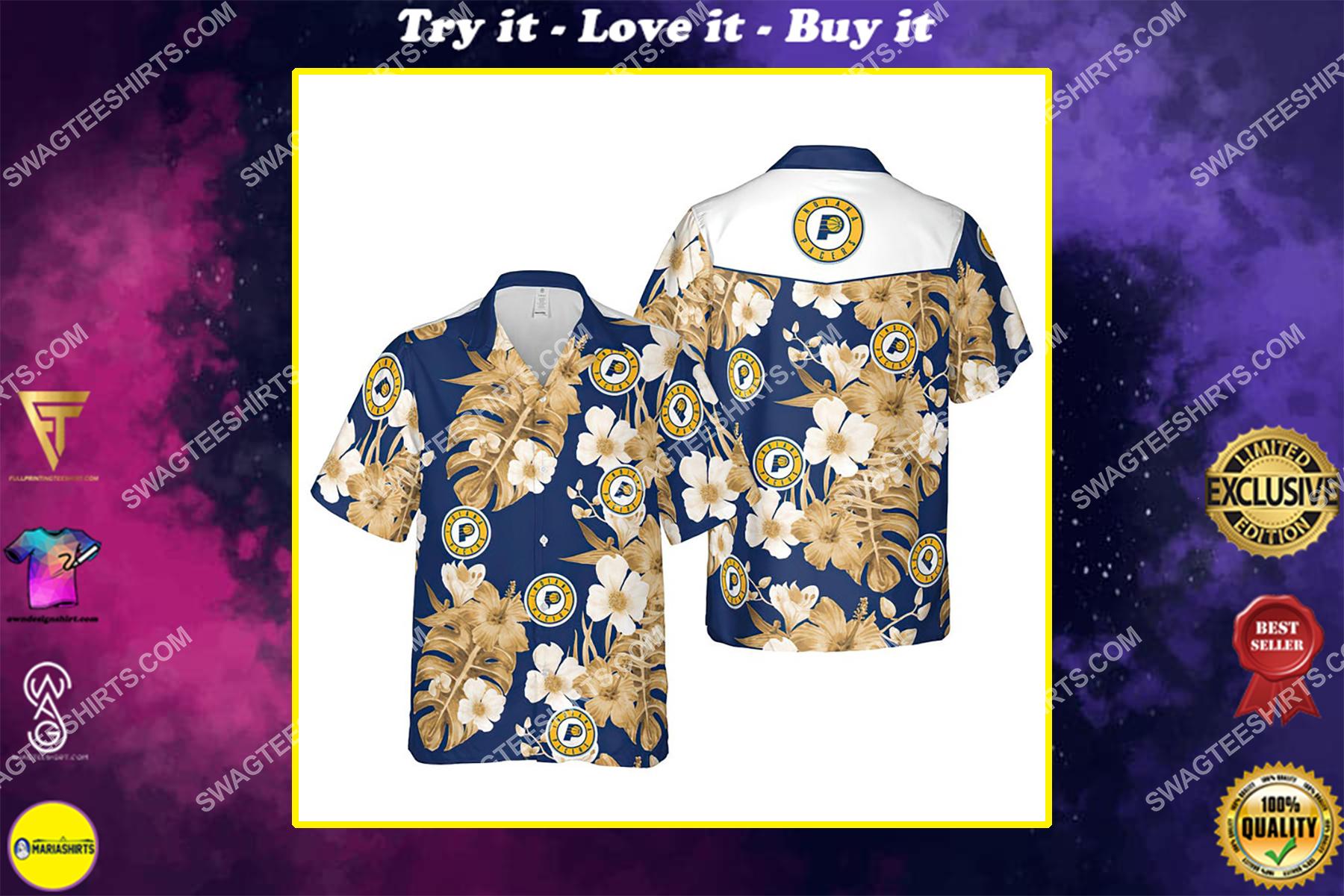 Floral indiana pacers nba summer vacation hawaiian shirt