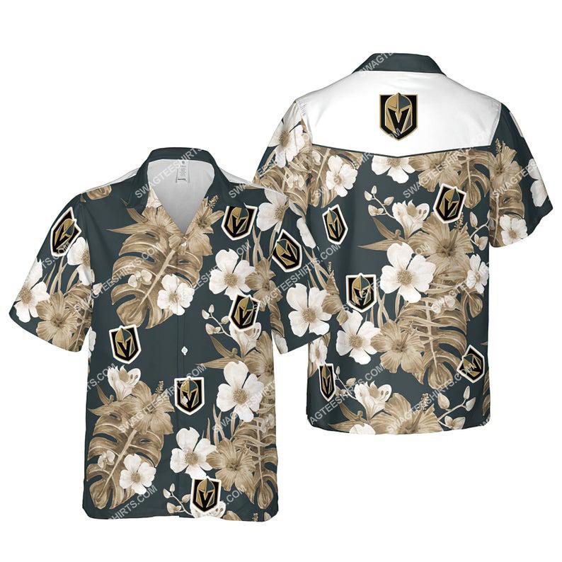 Floral vegas golden knights nhl summer vacation hawaiian shirt 1 - Copy