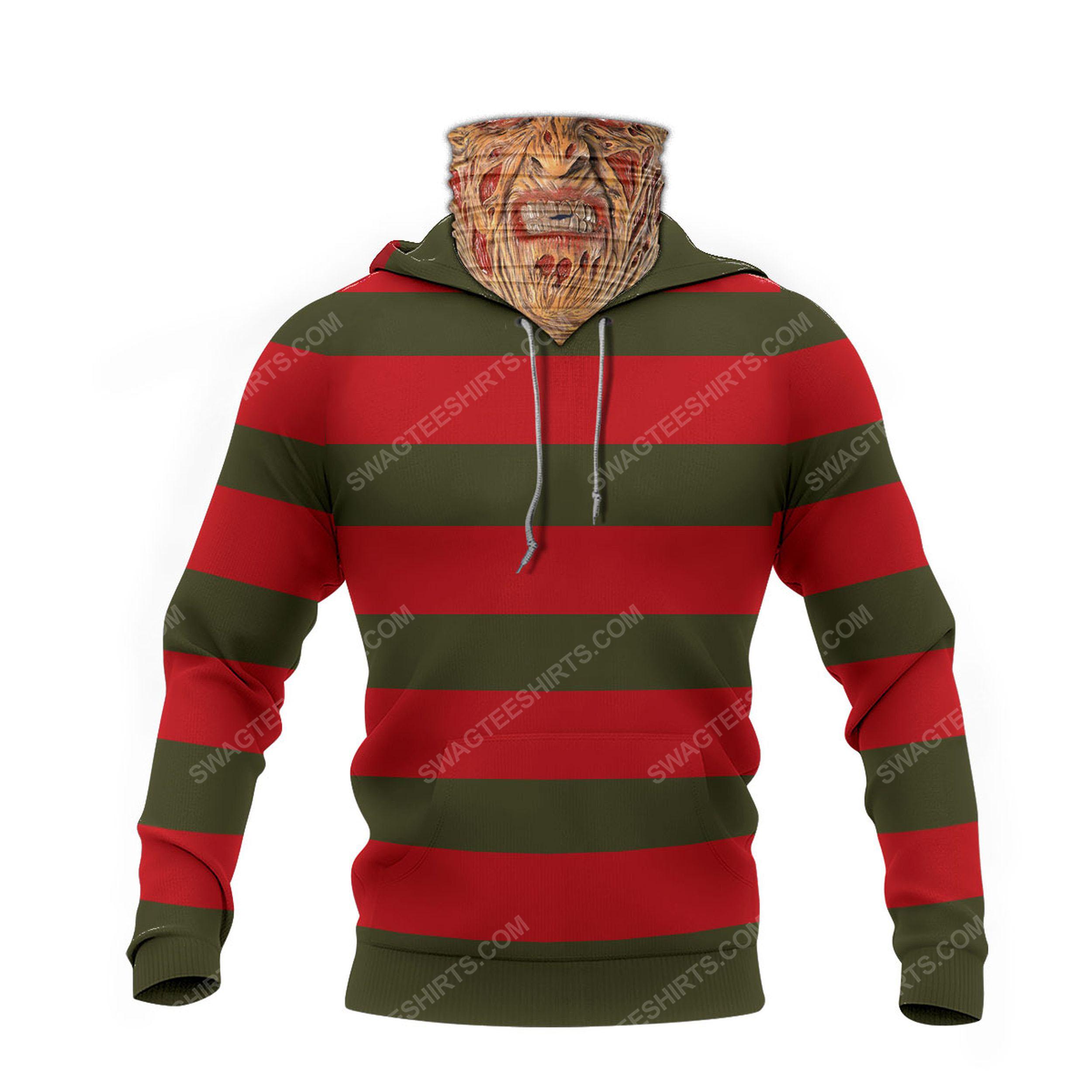 Freddy krueger a nightmare on elm street full print mask hoodie 2(1)