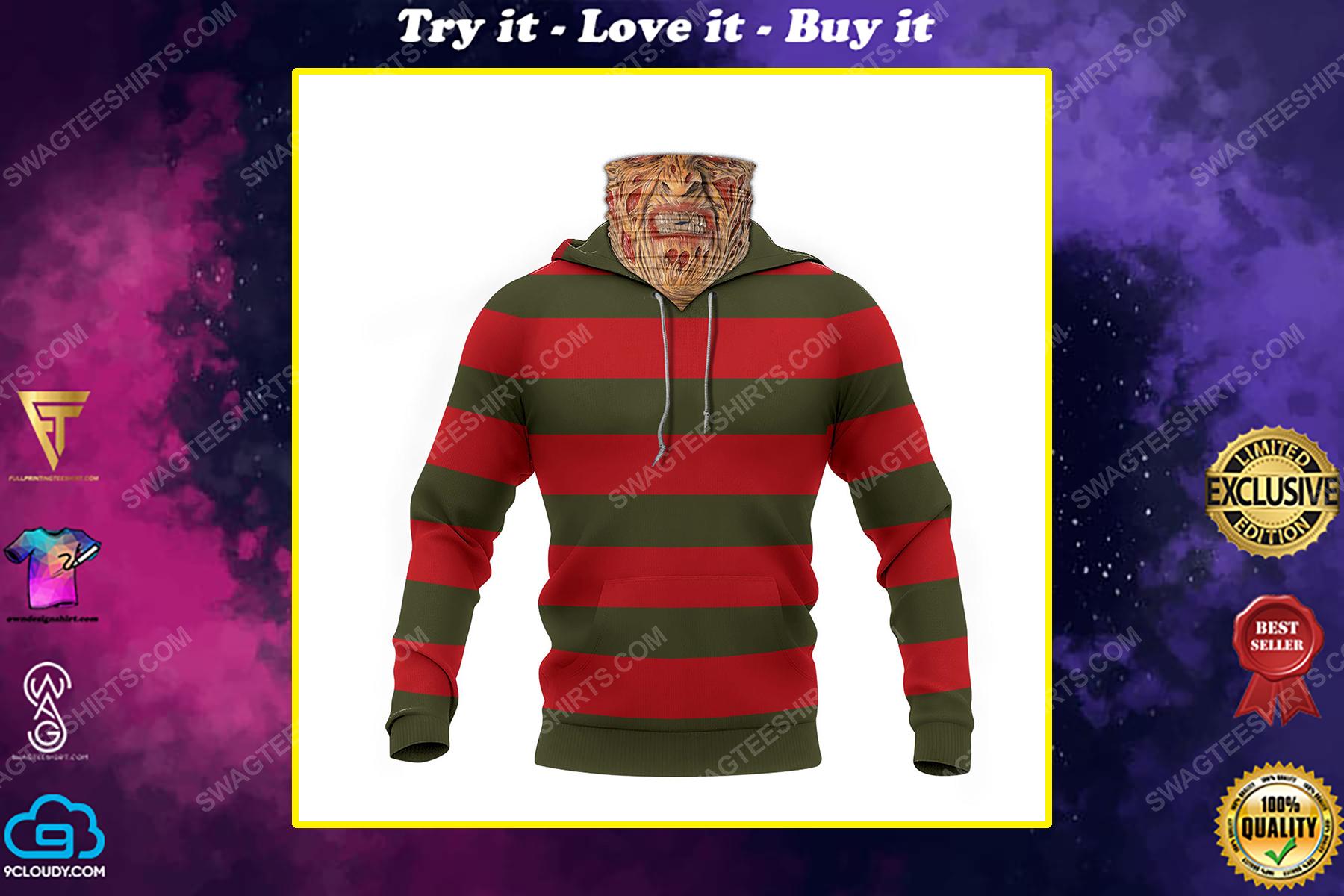 Freddy krueger a nightmare on elm street full print mask hoodie