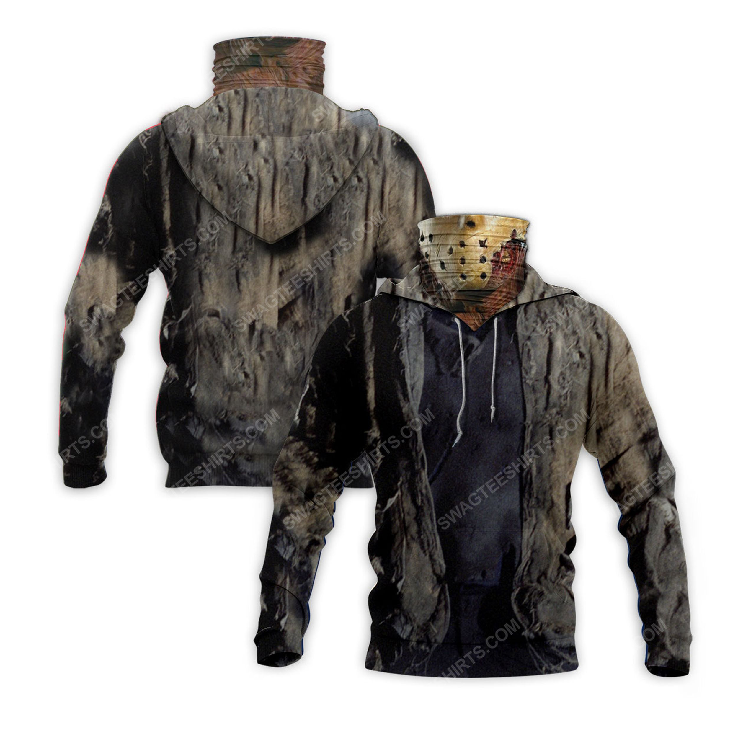Friday the 13th jason voorhees for halloween full print mask hoodie 2(1)
