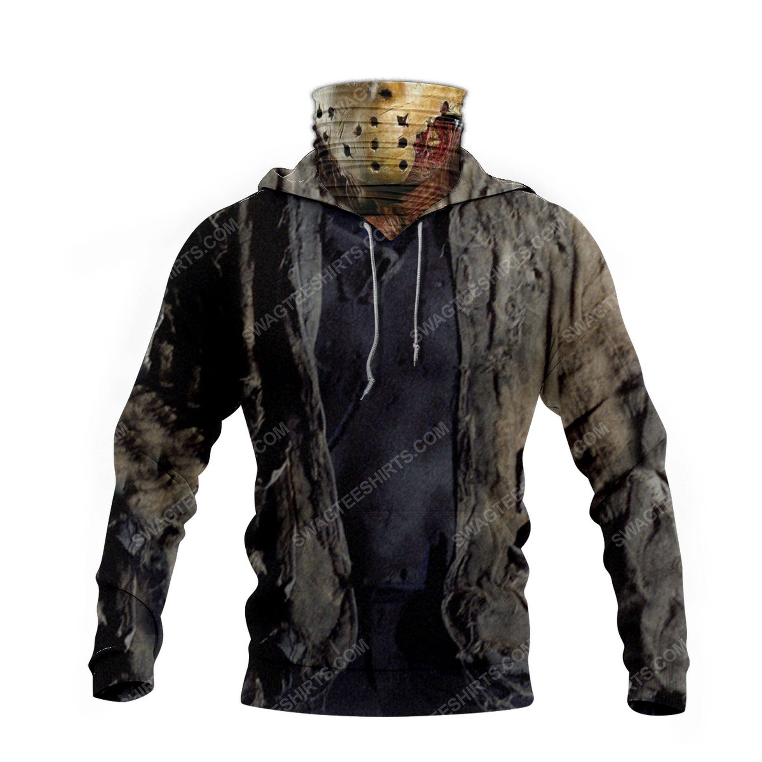Friday the 13th jason voorhees for halloween full print mask hoodie 4(1)