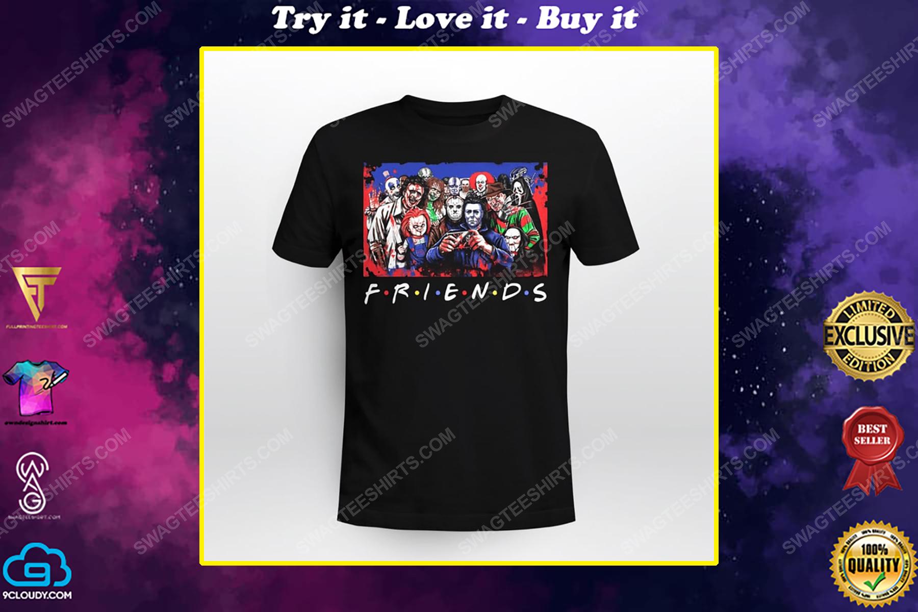 Friends tv show horror movie villains shirt