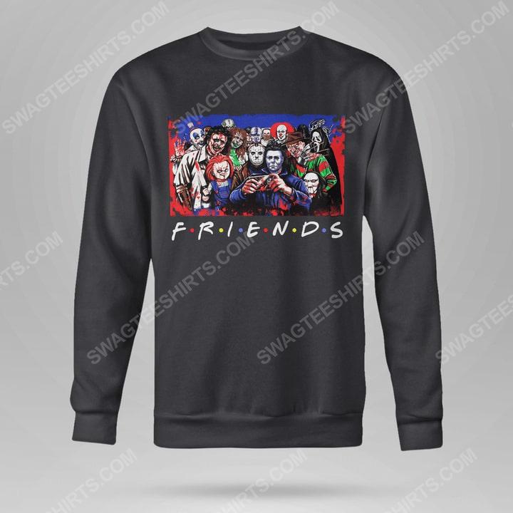 Friends tv show horror movie villains sweatshirt(1)