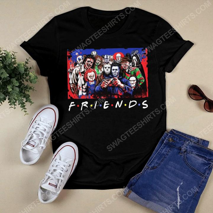 Friends tv show horror movie villains tshirt 1
