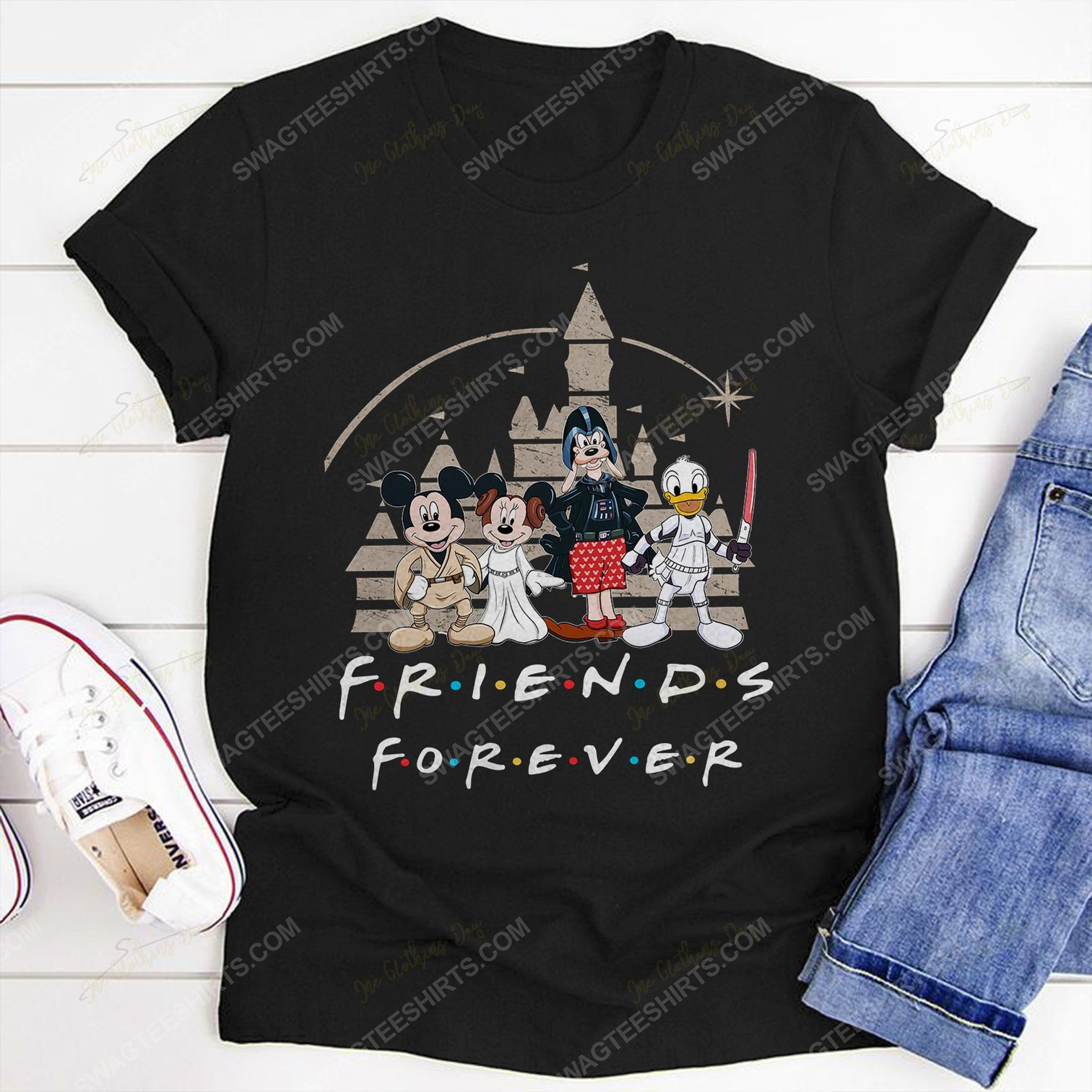 Friends tv show mickey mouse and friends shirt 3(1)