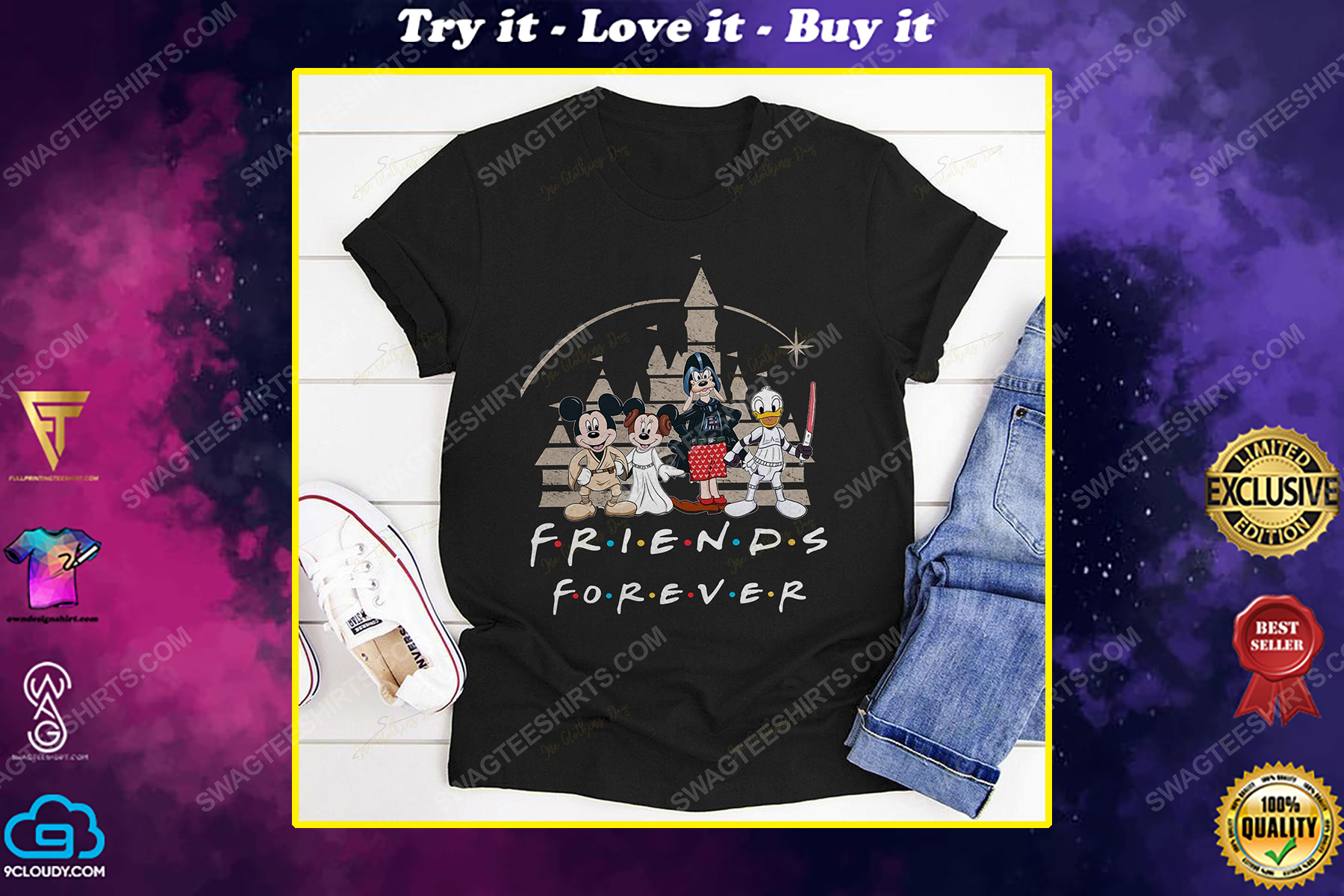 Friends tv show mickey mouse and friends shirt