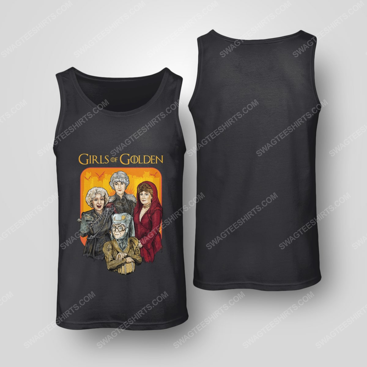 Game of thrones and the golden girls girls of golden tank top(1)