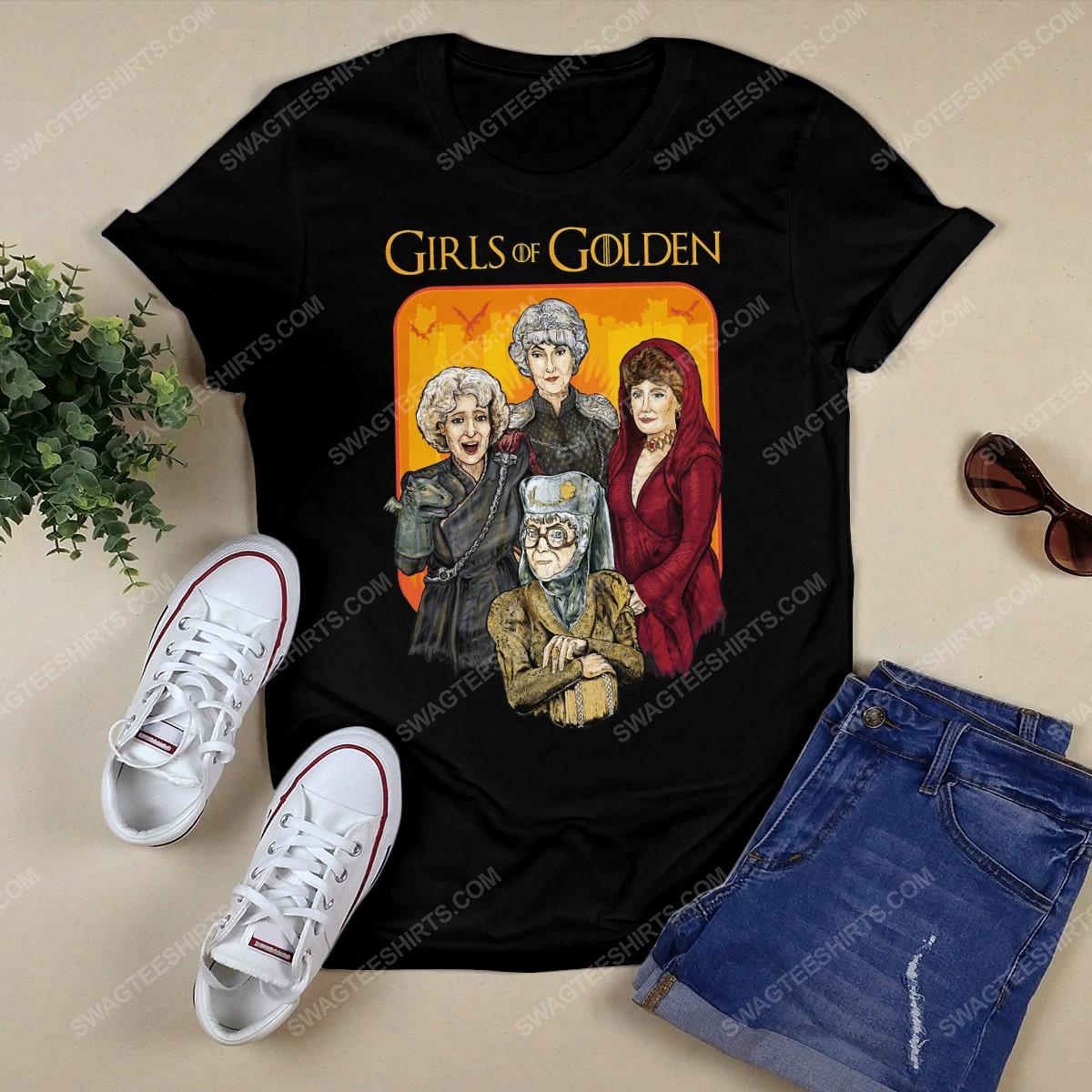 Game of thrones and the golden girls girls of golden tshirt 1