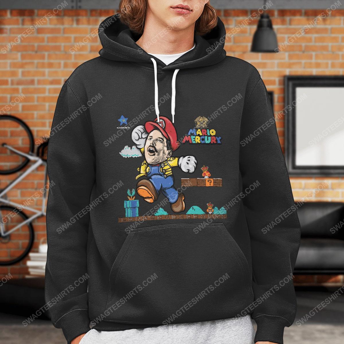 Game super mario and freddie mercury hoodie 1(1)