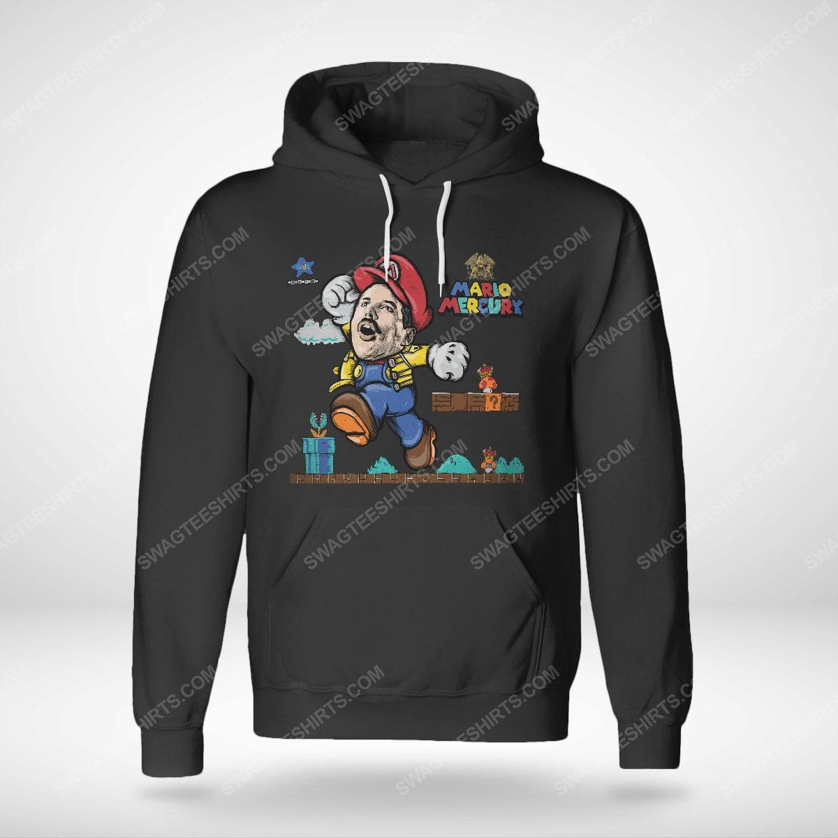 Game super mario and freddie mercury hoodie(1)