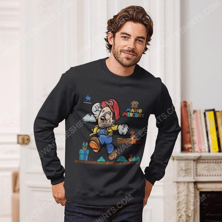 Game super mario and freddie mercury sweatshirt 1(1)