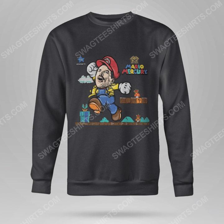 Game super mario and freddie mercury sweatshirt(1)