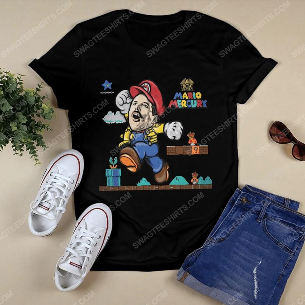 Game super mario and freddie mercury tshirt 1