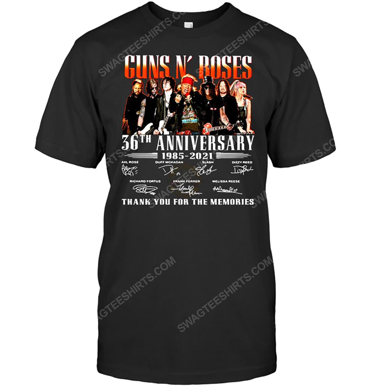 Guns n roses 35th anniversary thank you for memories tshirt 1