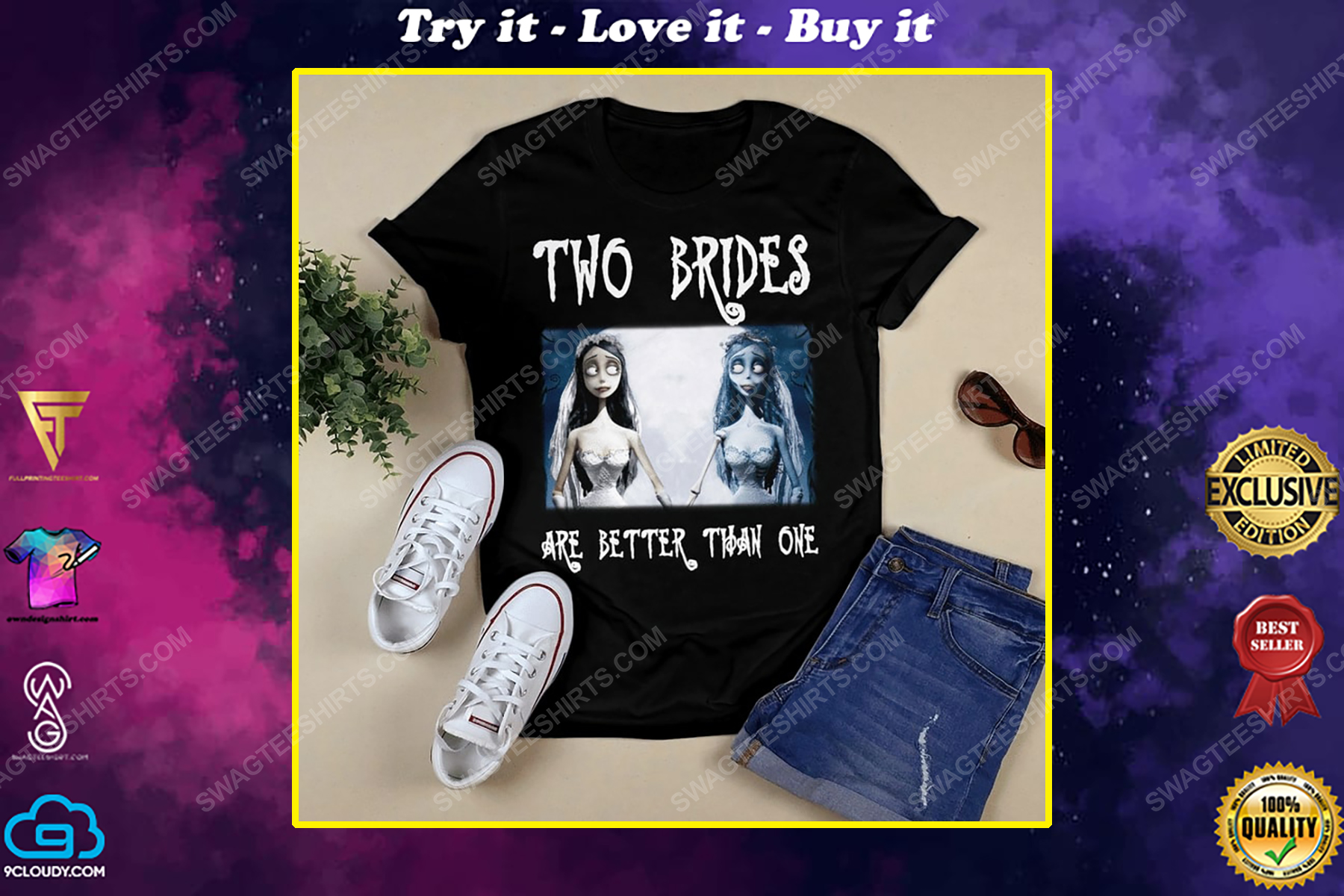 Halloween corpse bride two brides are better than one shirt