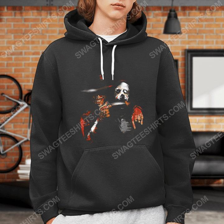 Halloween movie jason voorhees and freddy krueger hoodie 1(1)