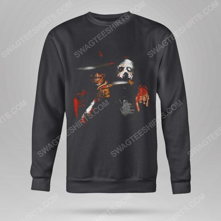 Halloween movie jason voorhees and freddy krueger sweatshirt(1)
