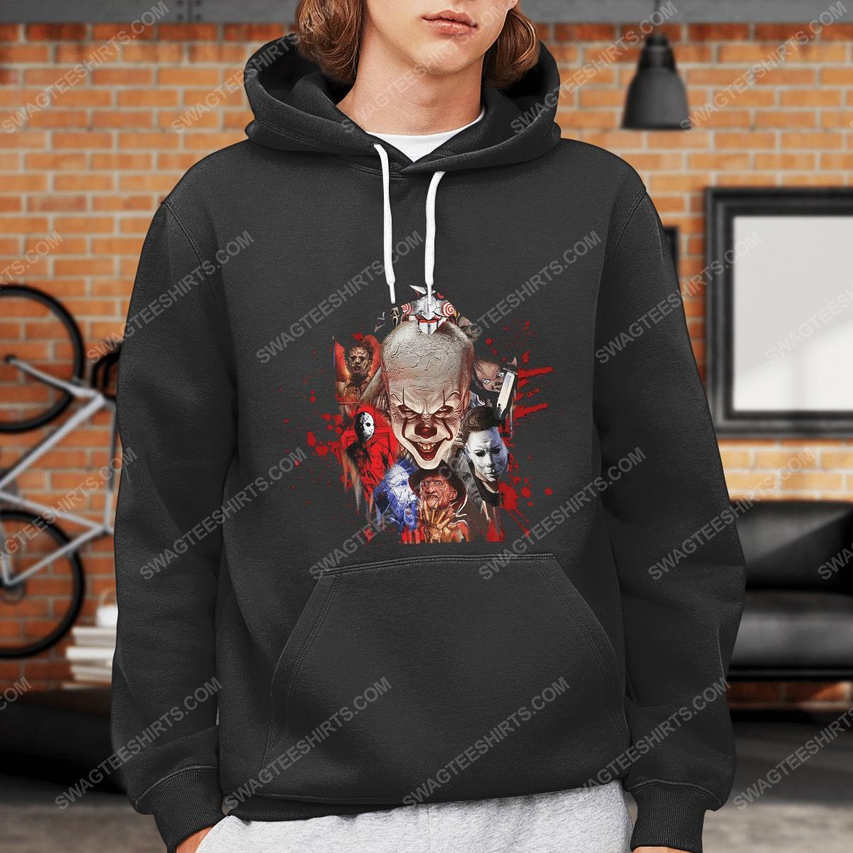 Halloween night horror movie villains with bloody hoodie 1(1)