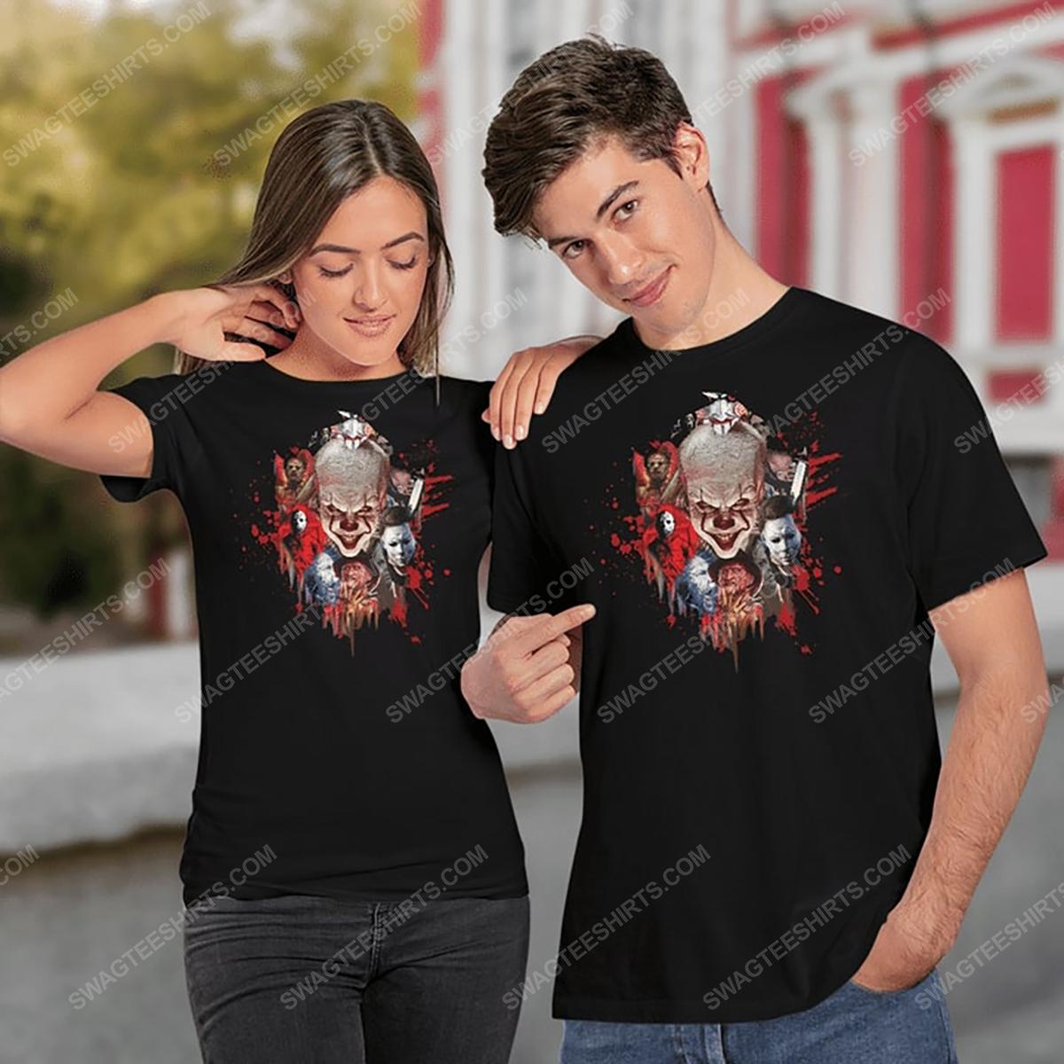 Halloween night horror movie villains with bloody shirt 2(1)