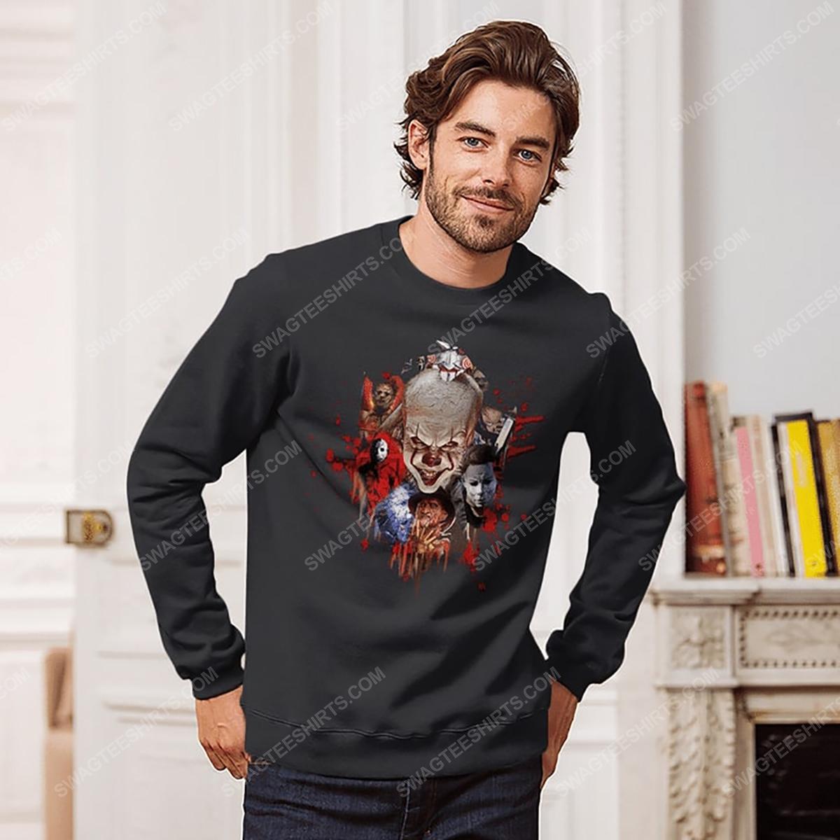 Halloween night horror movie villains with bloody sweatshirt 1(1)