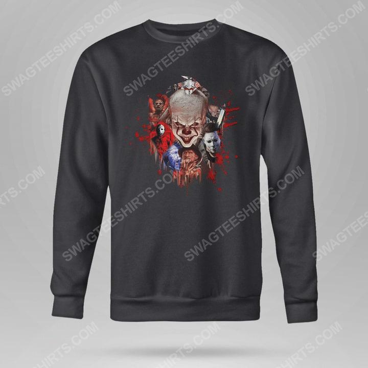 Halloween night horror movie villains with bloody sweatshirt(1)