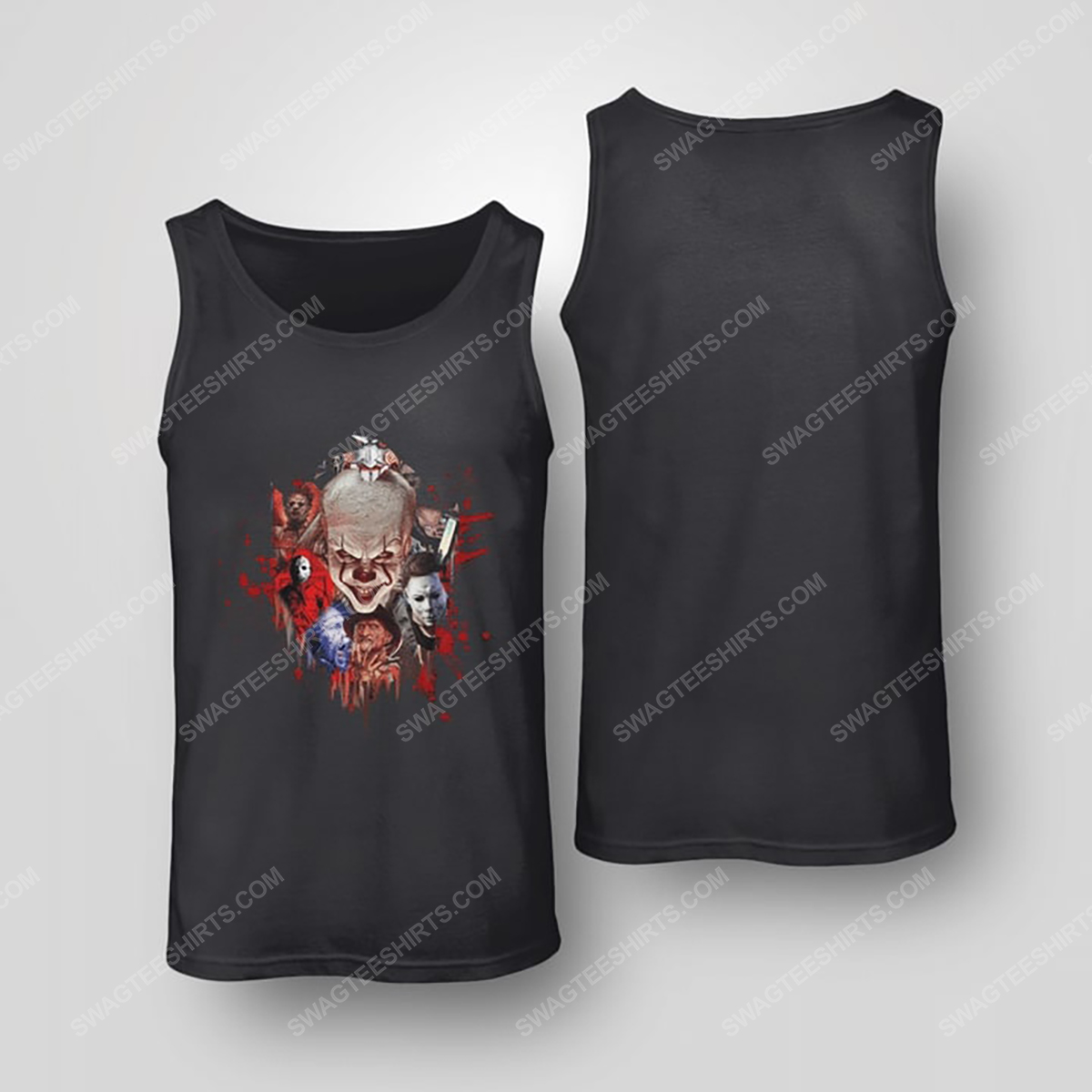 Halloween night horror movie villains with bloody tank top(1)
