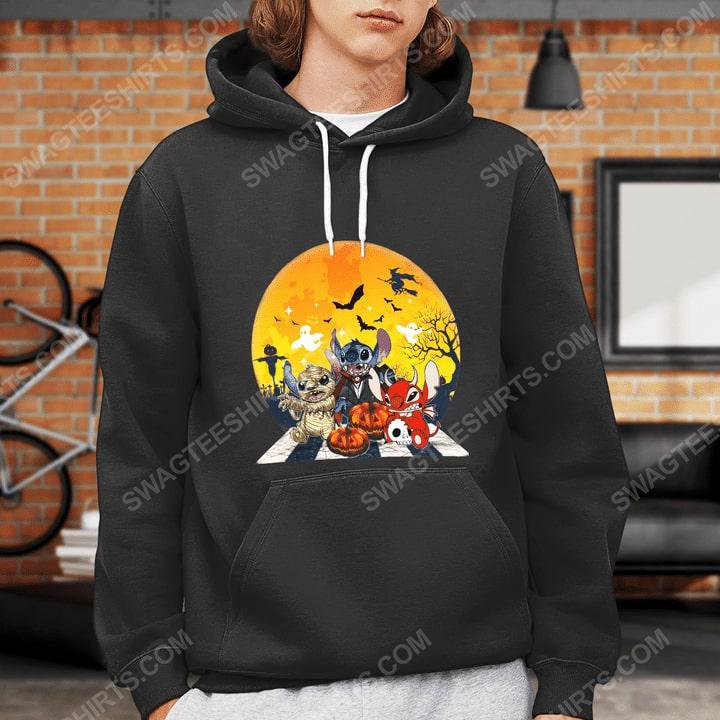 Halloween night stitch cosplay horror characters hoodie 1(1)