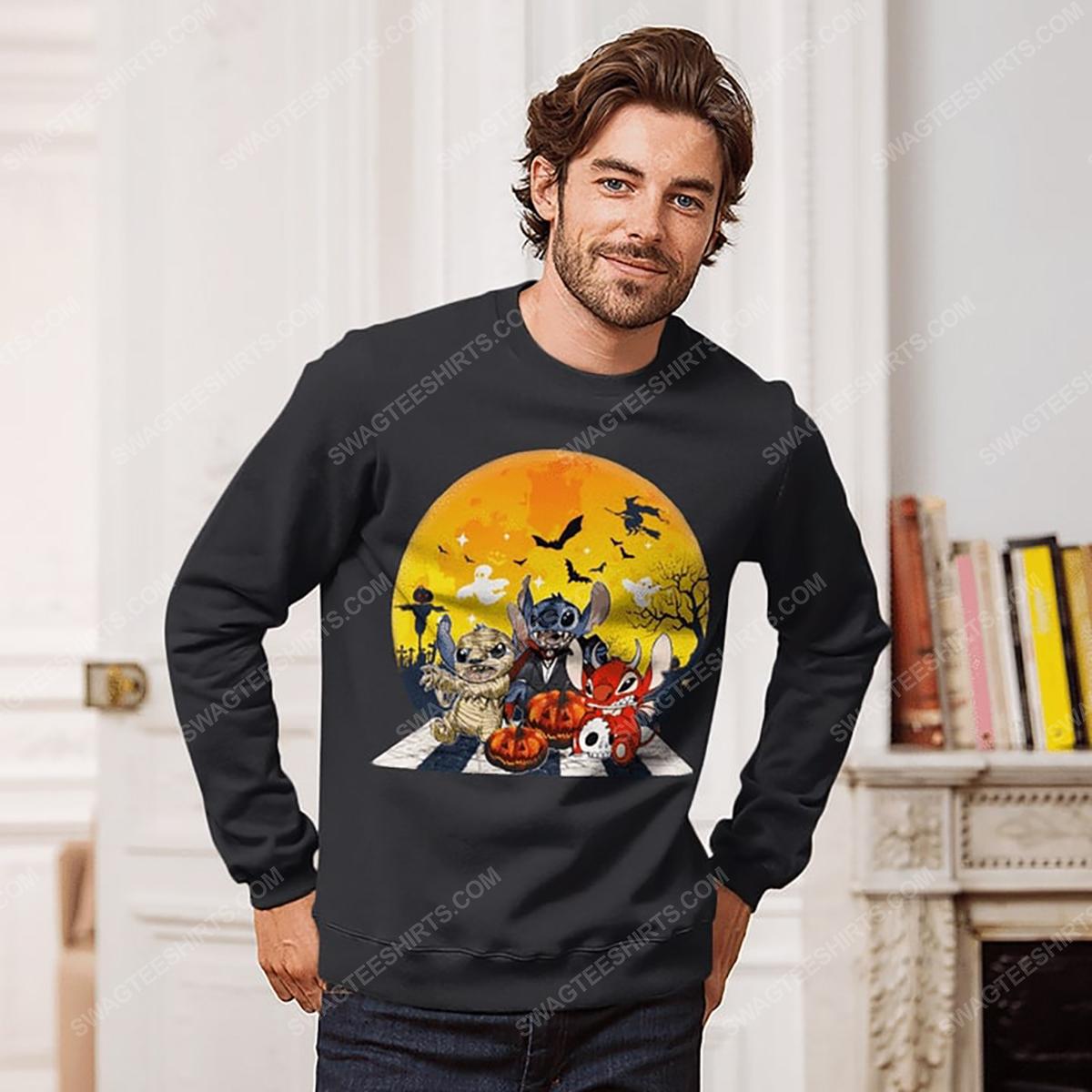 Halloween night stitch cosplay horror characters sweatshirt 1(1)